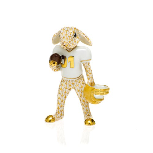 Herend Football Bunny, Butterscotch