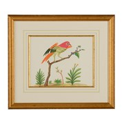 Bird Watercolor Paintings with Gold Bezel Frame