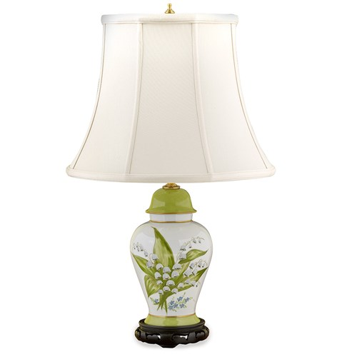 Lily of the Valley Limoges Porcelain Vase Lamps