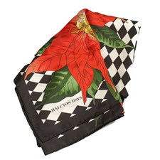 Halcyon Days Parterre with Poinsettia Silk Scarf
