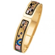 Freywille Gustav Klimt The Ultimate Kiss Clasp Ballerina Bangle