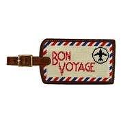 Bon Voyage Needlepoint Luggage Tag