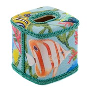 Tropical Fish Wastebasket & Tissue Box Cover