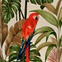 Red Parrot Tissue Box Cover