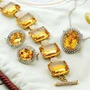 18k Beryl & Citrine Diamond Jewelry