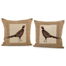 Strutting Pheasant Tapestry Pillows