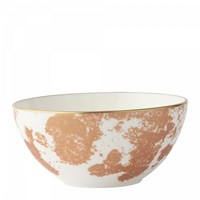 Royal Crown Derby Crushed Velvet Copper Coupe Bowl, Large