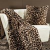 Faux Fur Leopard Australian Geelong Wool Throw