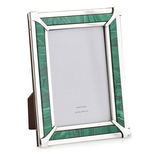 Malachite & Sterling Silver Frame 4x6