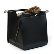 Sterling Silver Handle Leather Log Bag