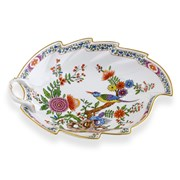 Dresden Porcelain Chinoiserie Leaf Dish