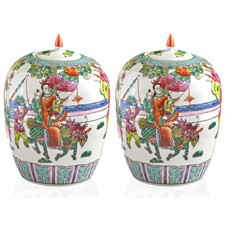 Pair of Dragon Boat Festival Jars