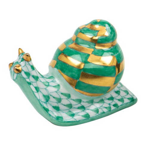 Herend Baby Snail Green