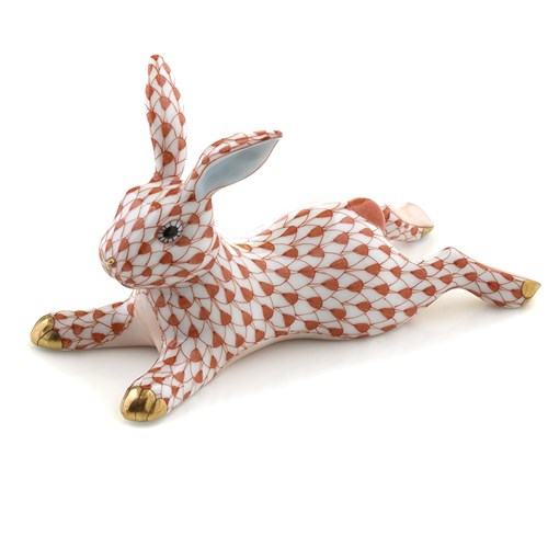 Herend Lounging Bunny Rust