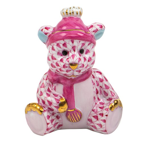 Herend Winter Bear Raspberry