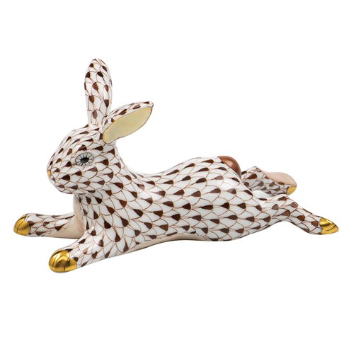 Herend Lounging Bunny Chocolate