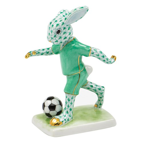 Herend Soccer Bunny Green