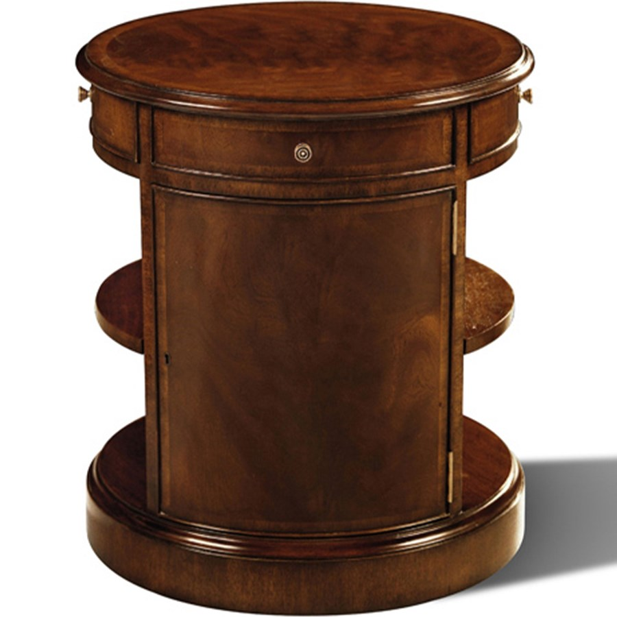 Drum End Table Side Tables Tables Furniture Scullyandscully Com