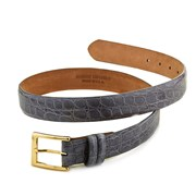 Crocodile Belt, Grey