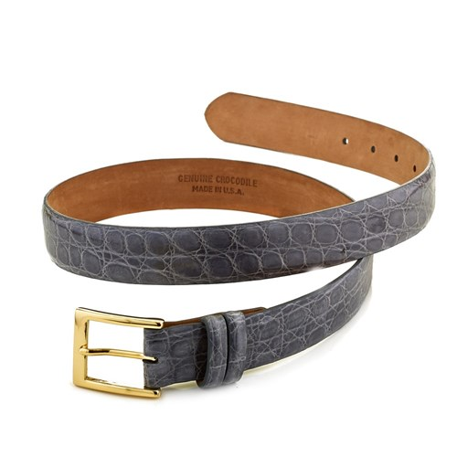 Crocodile Belt, Grey Size 28