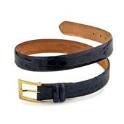 Crocodile Belt, Navy Blue