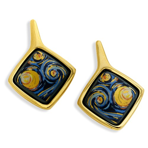 Freywille Vincent Van Gogh Carre Earrings