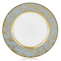 Royal Limoges Tweed Grey & Gold Dinner Plate