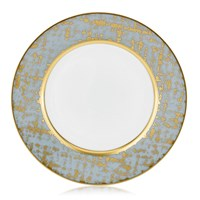 Royal Limoges Tweed Grey & Gold Dessert Plate