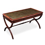 Mahogany Writing Table with Green Leather