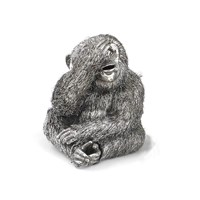 Buccellati Sterling Silver Furry See No Evil Monkey