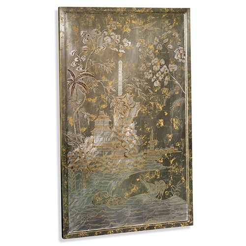 Silver Chinoiserie Panel, Left