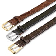 Classic Black Alligator Belt Strap