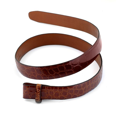 Chestnut Alligator Belt Strap, Size 32
