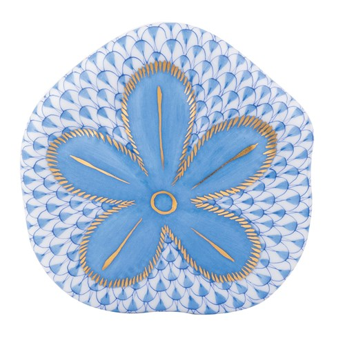 Herend Puffy Sand Dollar, Blue