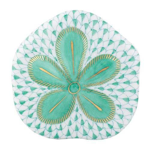 Herend Puffy Sand Dollar, Green