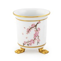Herend Cherry Blossom Mini Cachepot with Feet
