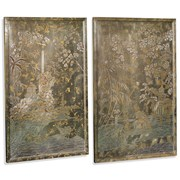 Silver Chinoiserie Panels