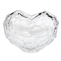 Moser Heart Sculpture, Large Clear