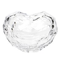 Moser Heart Sculpture, Small Clear