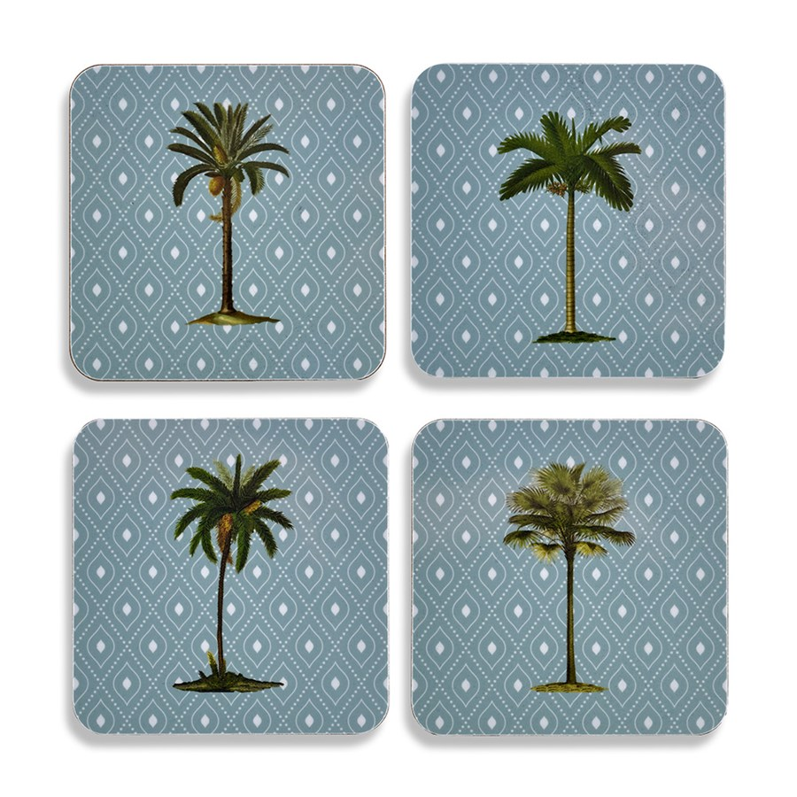Palm Tree Table Mats Coasters Placemats Coasters Table Accents Tabletop Scullyandscully Com