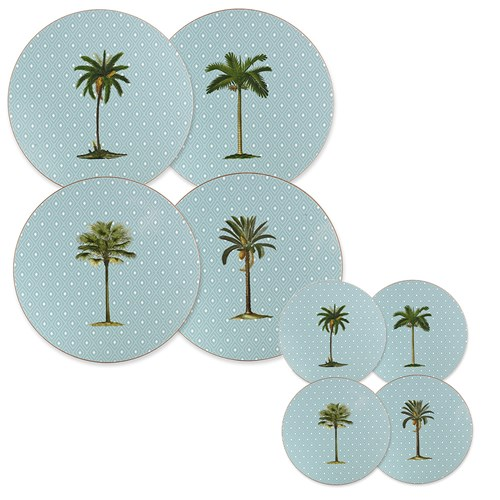 Palm Tree Round Mats & Coasters