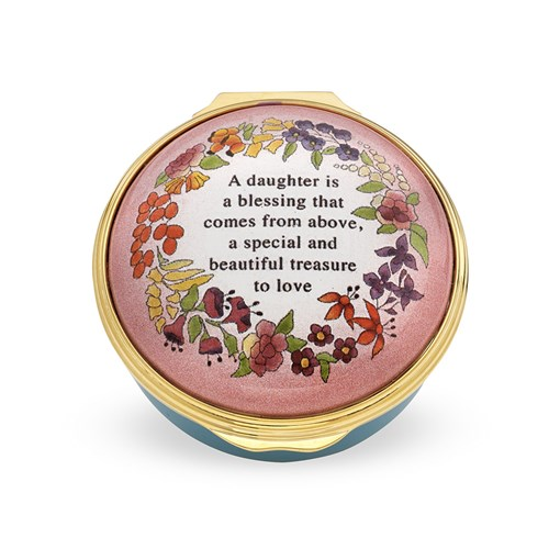 Halcyon Days A Daughter Is a Blessing Enamel Box