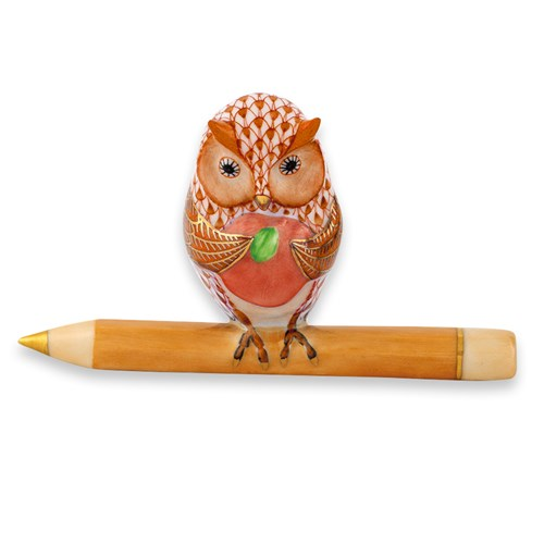 Herend Owl Teacher, Rust