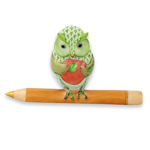 Herend Owl Teacher, Key Lime