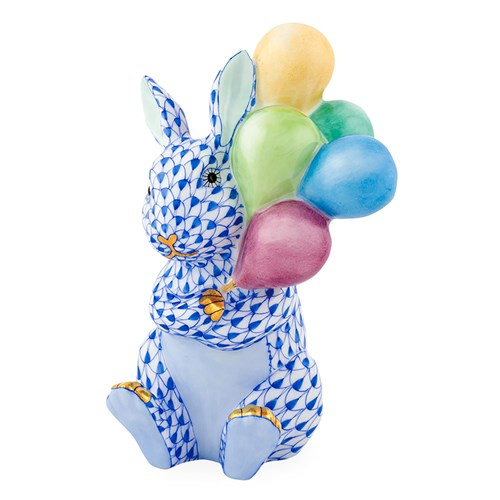 Herend Balloon Bunny, Sapphire