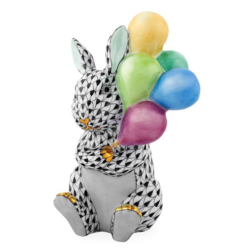 Herend Balloon Bunny, Black