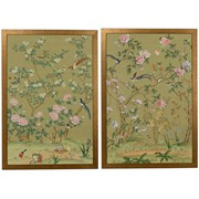 Edgedale Watercolor Painting Silk Panels