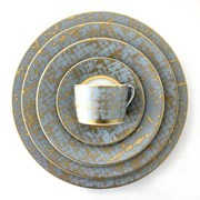 Royal Limoges Tweed Grey & Gold