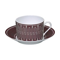 Hermes H Deco Rouge Breakfast Cup & Saucer