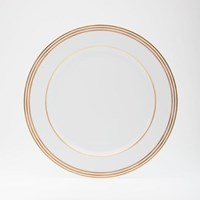 Royal Limoges Latitudes Gold Stripe Dinner Plate